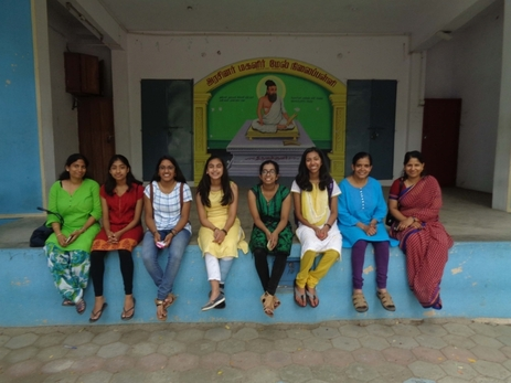 Interns and parents at Ashok Nagar girls high school August 2017